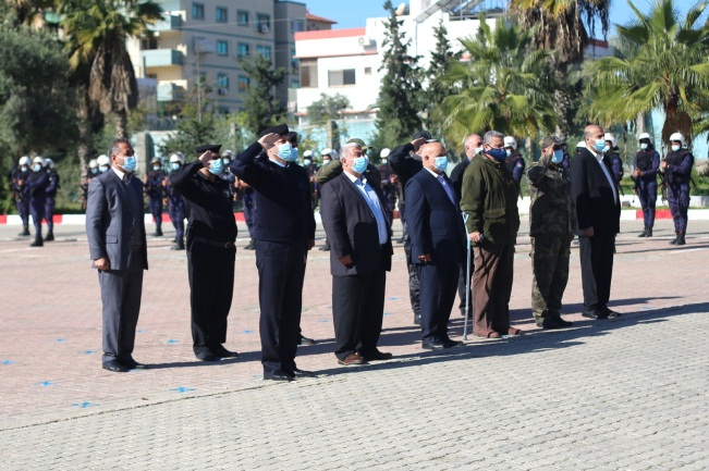 The ceremony held by the ministry of the interior to mark the 12th anniversary of Operation Cast Lead (Palinfo Twitter account, December 27, 2020).