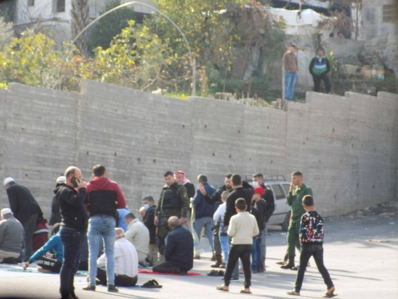 The Palestinian security forces use tear gas grenades to disperse a group of worshippers in al-Silat al-Harithiya (Jenin region) (Facebook page of the media office of the Liberation Party in Palestine, January 1, 2021; YouTube, January 1, 2021).