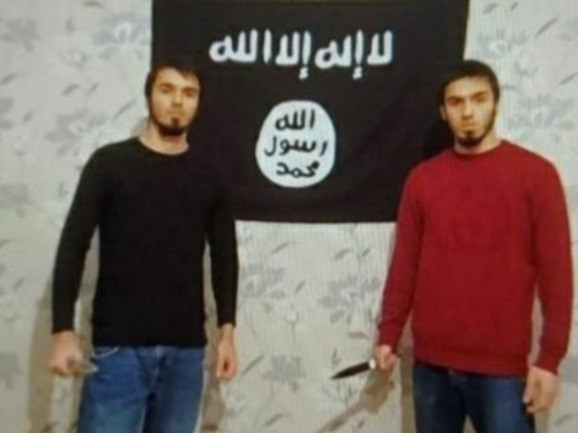 Two ISIS operatives who carried out the stabbing attack (Geopolog@Geopolog Twitter account, January 2, 2021)