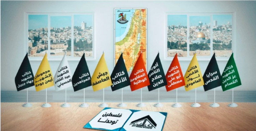The names of the 12 Palestinian organizations participating in the exercise (Telegram channel of the joint operations room of the