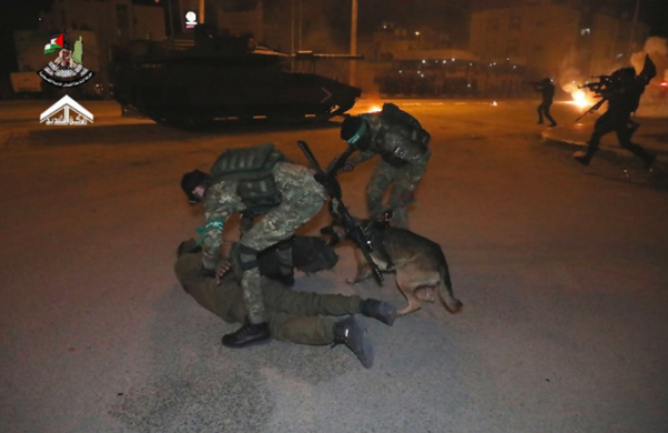 Simulating an attack on an IDF tank and the abduction of an IDF soldier.