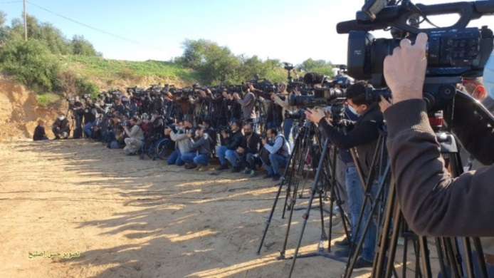 Press conference held before the military exercise began (Twitter account of journalist Hassan Aslih, December 29, 2020).