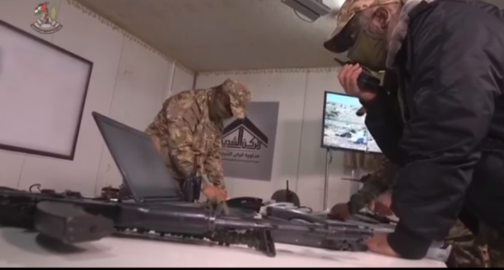 The joint operations room at the beginning of the military exercise held on December 29, 2020 (Facebook page of al-Jazeera Palestine, December 30, 2020).