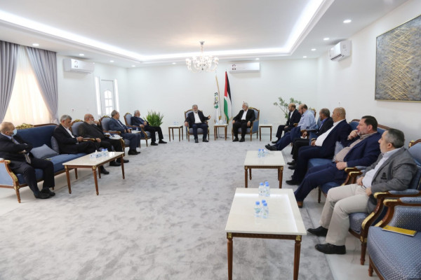 Hamas and PIJ delegations meet in Qatar (Hamas Telegram channel, January 12, 2021).
