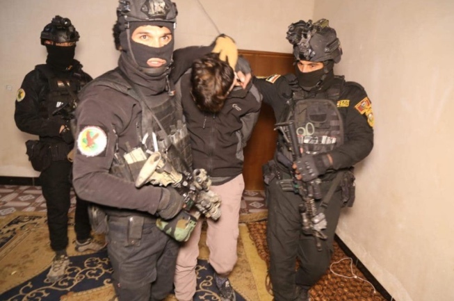 ISIS operative captured by members of the Iraqi Counterterrorism Apparatus.