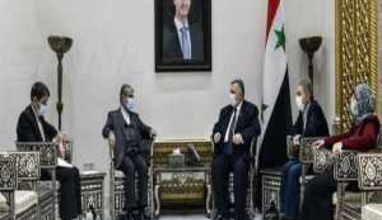 The meeting between the speaker of the Syrian parliament and the Iranian ambassador to Damascus (al-Alam, January 15, 2021)