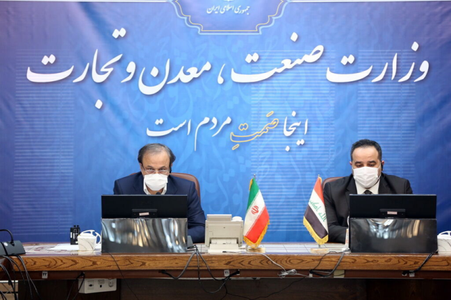 The meeting between the Iranian and Iraqi ministers of trade and industry (IRNA, January 13, 2021)