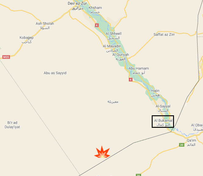 The site of the ISIS attack near the border with Iraq (Google Maps)