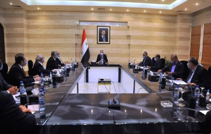 The meeting between the Syrian prime minister and the members of the Joint Syrian-Iranian Chamber of Commerce (IRNA, January 26, 2020).