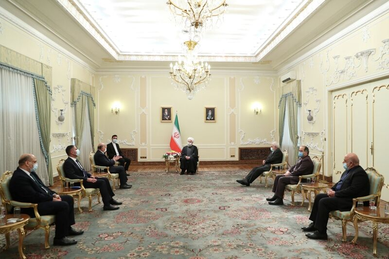 The meeting between President Rouhani and the Iraqi minister of foreign affairs (IRNA, February 3, 2020).