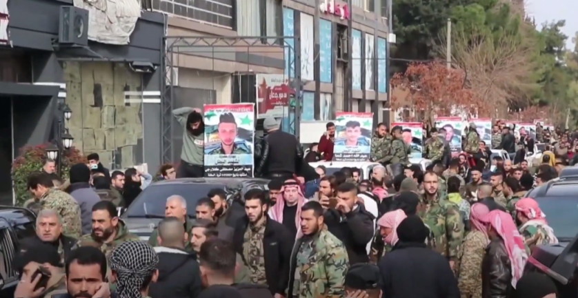 Funeral procession for the fighters killed in the ISIS attack (YouTube, February 4, 2021)