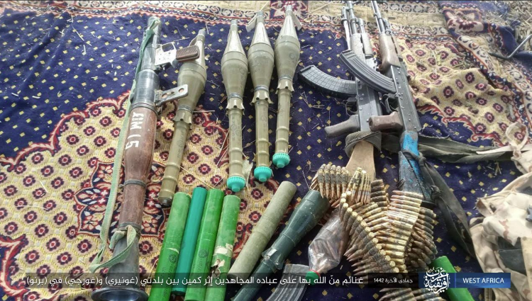 Weapons seized by ISIS operatives in the attack.