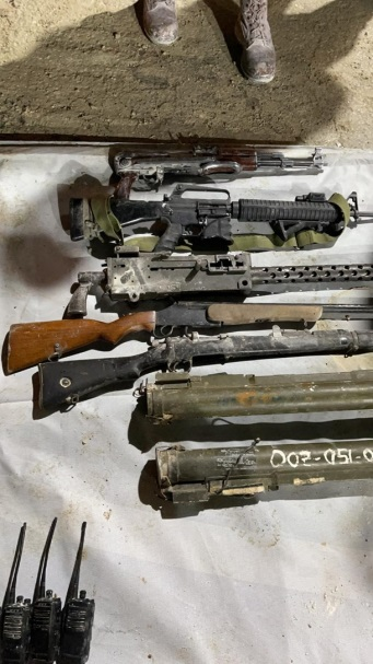 Weapons confiscated during the Israeli security force activity (IDF spokesman's website, February 16, 2021).