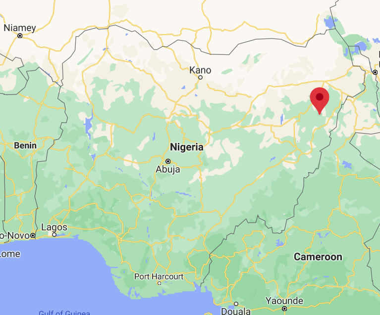 Askira, in the southern part of Borno State, in northeastern Nigeria (Google Maps)
