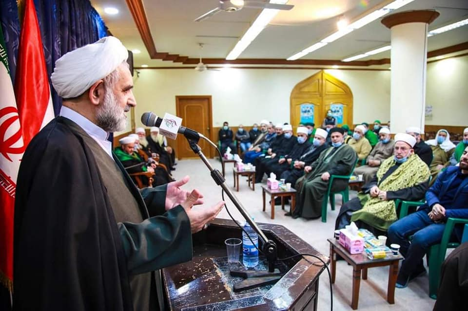 A ceremony marking the 42nd anniversary of the Islamic Revolution led by the representative of the Supreme Leader to Syria (website of the Supreme Leader in Arabic, February 11, 2021)