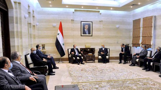 The meeting between the Syrian prime minister and the Iranian business delegation (otagh24.org, February 8, 2021)