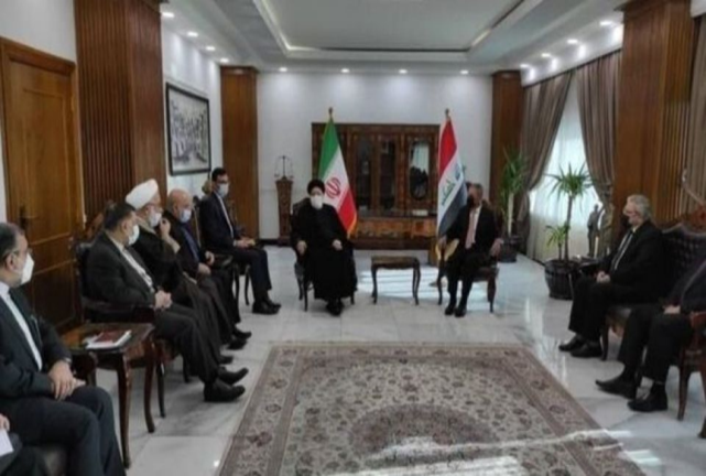 The meeting between the head of the Iranian judiciary with the head of Iraq's Supreme Judicial Council (Alef, February 9, 2021)