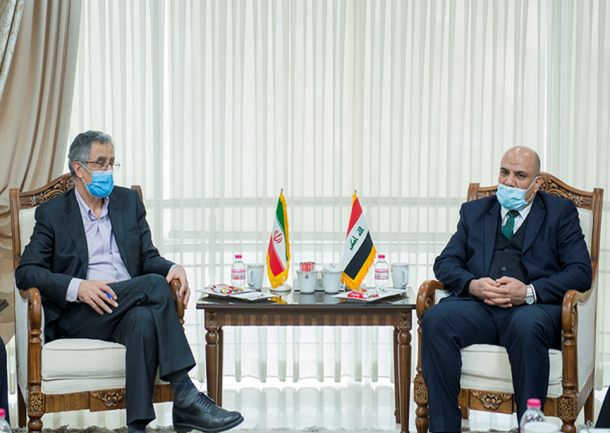 The meeting between the head of the Tehran Chamber of Commerce and Industry with the Iraqi ambassador to Tehran (website of the Tehran Chamber of Commerce, February 8, 2021)