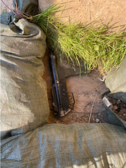 Carlo improvised machine gun which fell from the vehicle during the attempted shooting attack (IDF spokesman, January 9, 2021).