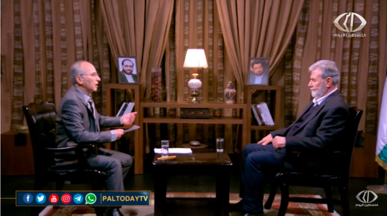 Ziyad al-Nakhalah interviewed by the PIJ-affiliated Paltoday channel, February 19, 2021.