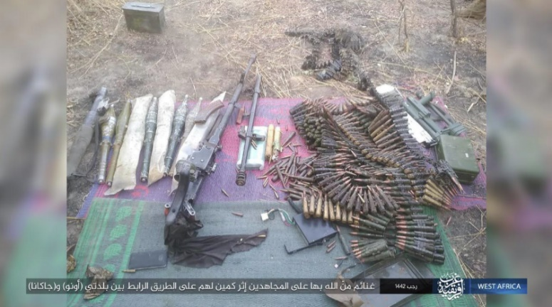 Weapons and ammunition seized by ISIS operatives (Telegram, March 1, 2021)