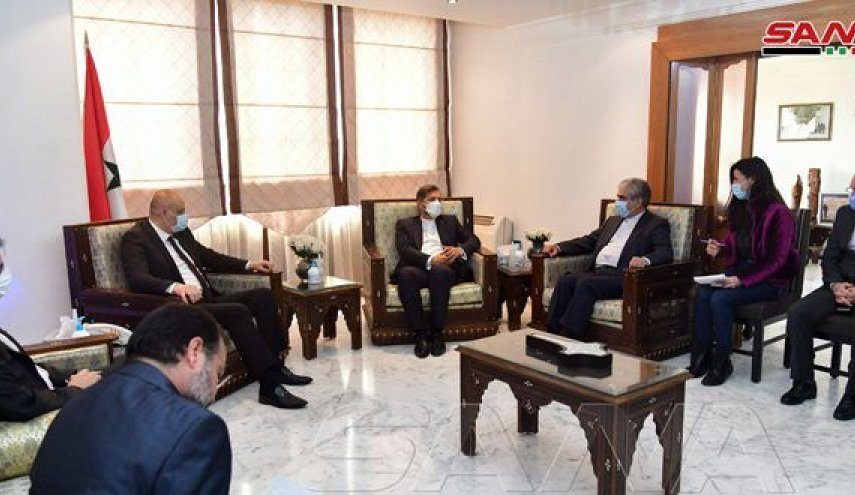 The meeting of the spokesman of the Iranian Ministry of Foreign Affairs with the Syrian minister of information (SANA, February 25, 2021)