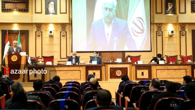 The conference examining ways to expand trade between Iran and Syria (Tahlil Bazaar, March 1, 2021)