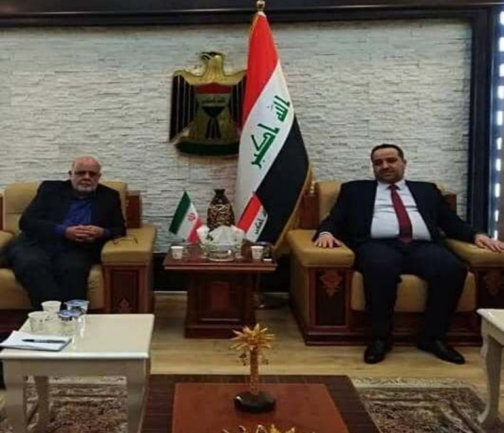 The meeting between the Iranian ambassador to Baghdad with the Iraqi minister of trade (IRNA, February 22, 2021)
