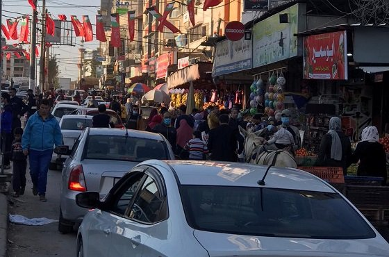 Gaza Strip markets crowded with shoppers (al-Hayat al-Jadeeda, March 6, 2021).