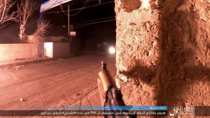 ISIS operatives attacking an SDF position in Shahil (Telegram, March 6, 2021)