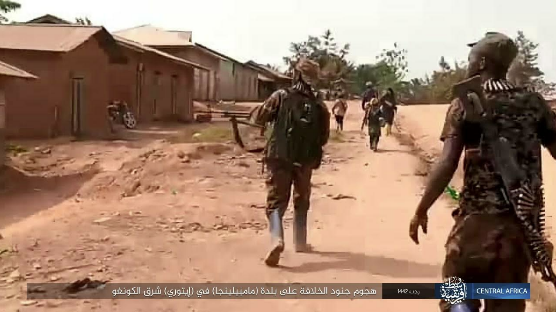 ISIS operatives attacking the town in northeastern Congo.