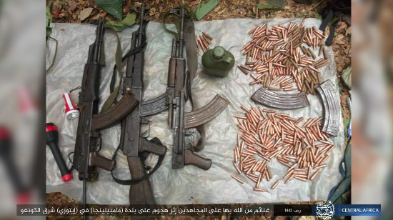 Weapons and ammunition seized by ISIS (Telegram, March 6, 2021)
