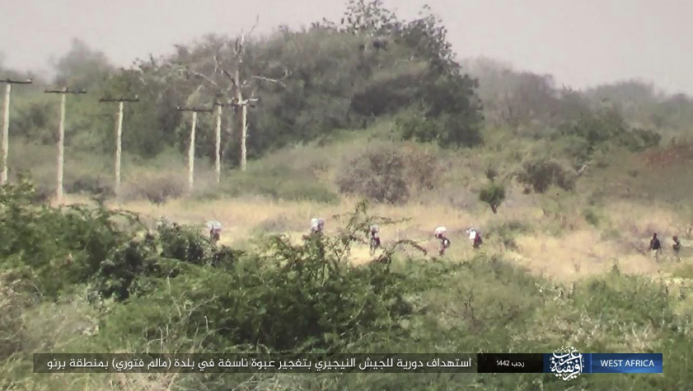ISIS operatives staking out a Nigerian army foot patrol in Malam Fatori.