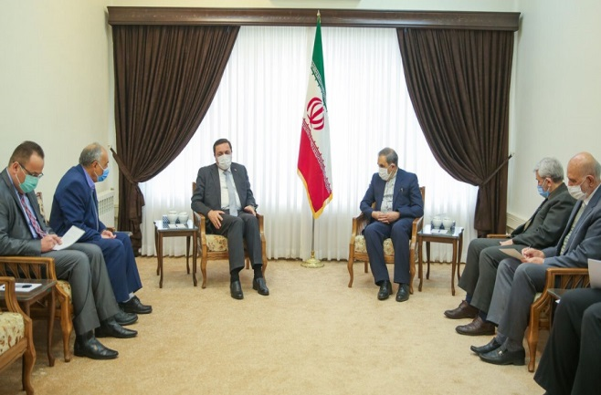 The meeting between the adviser to the supreme leader of Iran and the Syrian ambassador to Tehran (ISNA, March 15 , 2021)