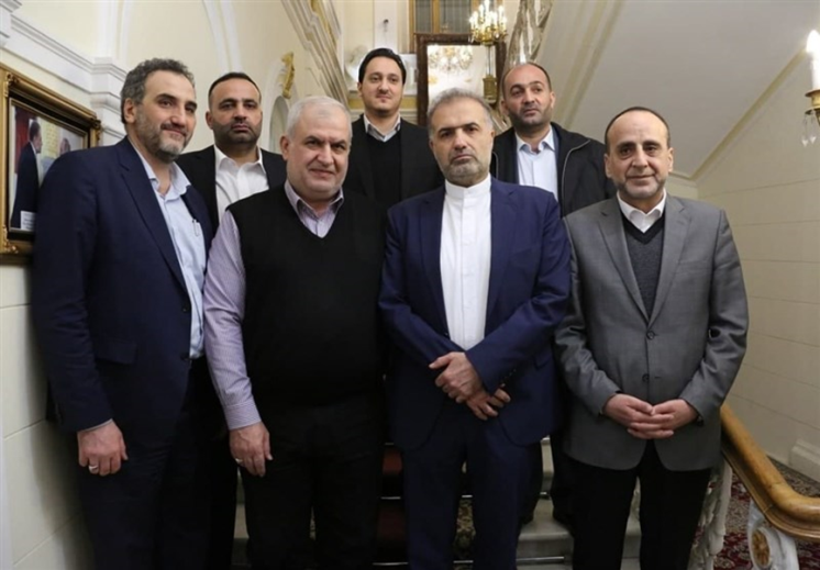 The meeting between the Iranian ambassador to Moscow and the delegation of Hezbollah members, which visited Moscow (Tasnim, March 16 , 2021)