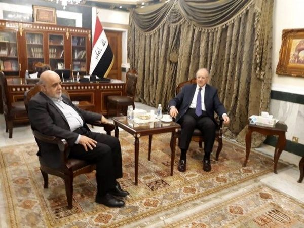 The meeting between the Iranian ambassador to Baghdad with the Iraqi minister of finance (ILNA, March 8 , 2021)