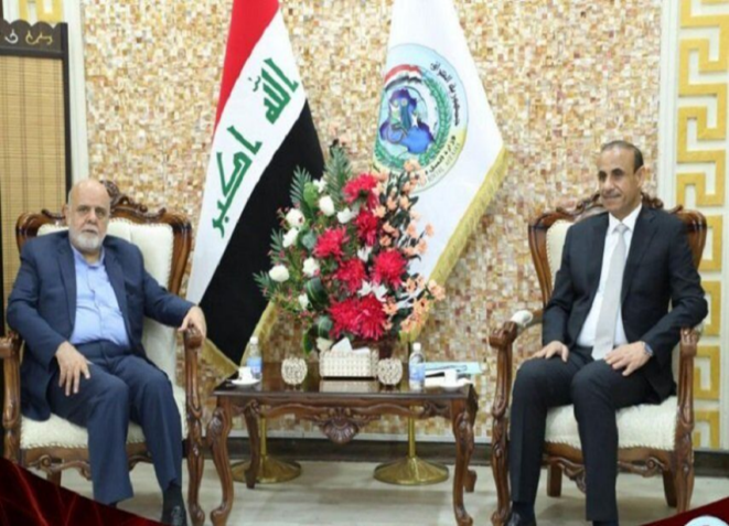 The meeting between the Iraqi minister of labor and social services and the Iranian ambassador to Baghdad. Source: IRNA, March 26 2021