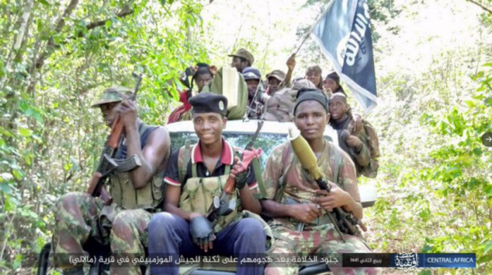 ISIS operatives who took part in the attack against the Mozambican army in the village of Malali.