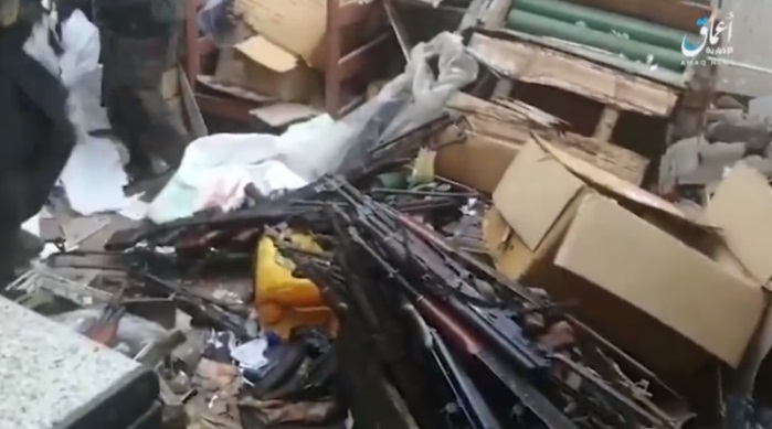 Rifles seized by ISIS in an attack in Cabo Delgado