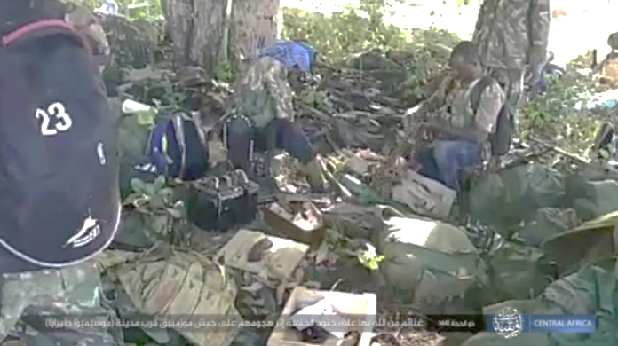 Equipment of Mozambican soldiers seized by ISIS's operatives.