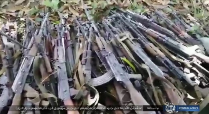 Rifles seized by the operatives (Telegram, August 11, 2020)