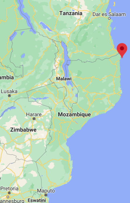 Location of the islands in northeastern Mozambique (Google Maps)