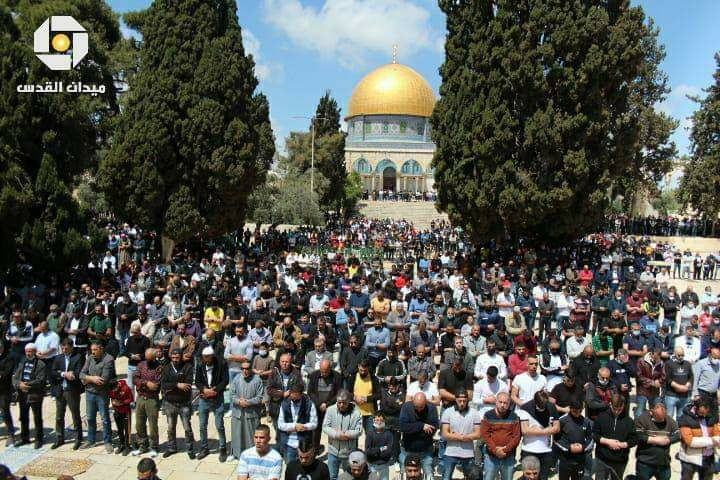 Mass Friday prayer on the Temple Mount.