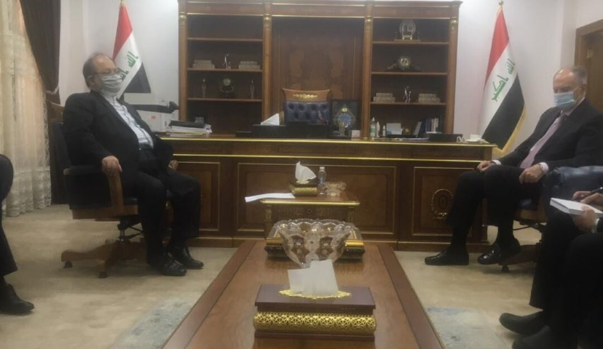 The meeting between the Iraqi minister of finance and Iranian minister of labor and welfare. Source: IRNA, April 11
