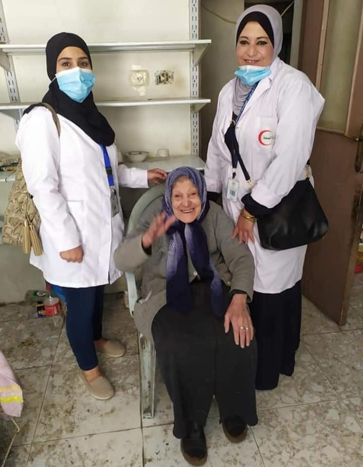 Coronavirus vaccinations in the Jilazoun refugee camp (ministry of health in Ramallah Facebook page, April 18, 2021).