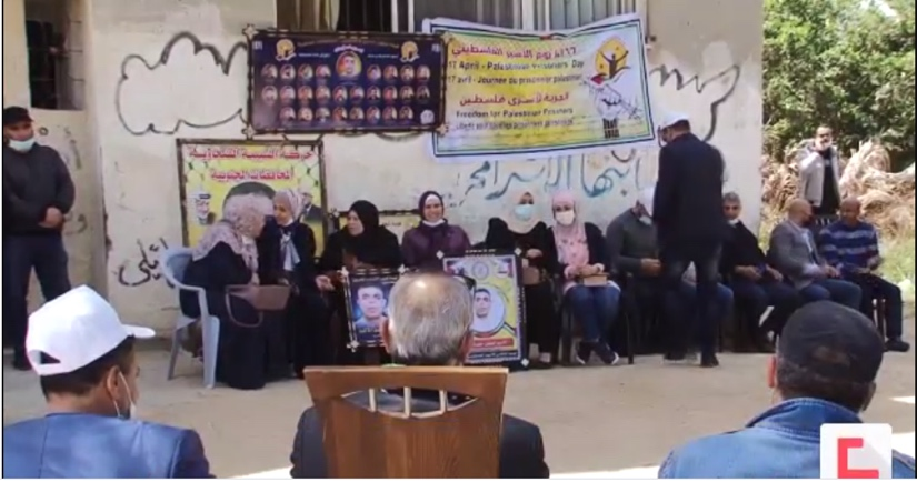 Support for Palestinian Prisoners Day in the Gaza Strip (al-Ahed News, April 17, 2021).