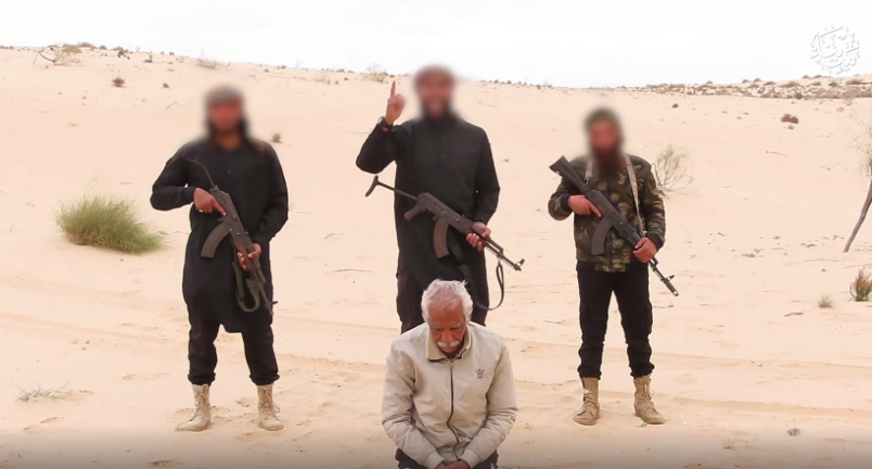 Execution of a Christian who erected an orthodox church in Sinai where, according to ISIS, there was collaboration with the Egyptian army against ISIS (Telegram, April 17, 2021).