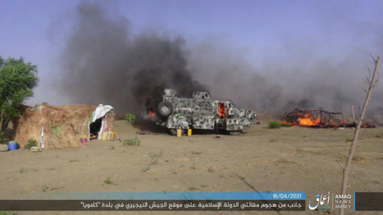 Documentation of the attack by ISIS operatives against a Nigerian army post.