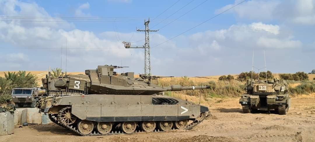 IDF forces reinforce the area near the Gaza Strip (Twitter account of journalist Hassan Aslih, April 27, 2021).