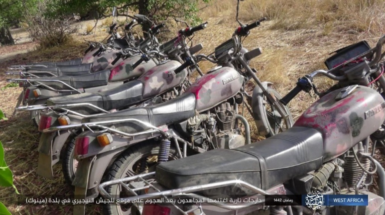 Motorcycles seized by ISIS (Telegram, April 27, 2021)